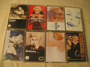 LOT-OF-8-MADONNA-CASSETTES-S-T-YOU-CAN-DANCE-TRUE-BLUE-LIKE-A-VIRGIN