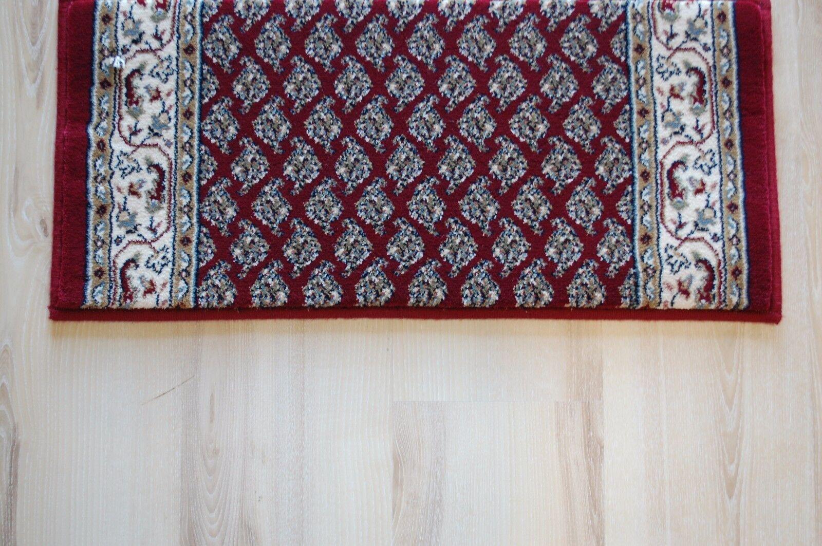 Tappeto lungo Ragolle Mir Rosso 100 cm Larghezza (Lunghezza 100-395cm su Misura)