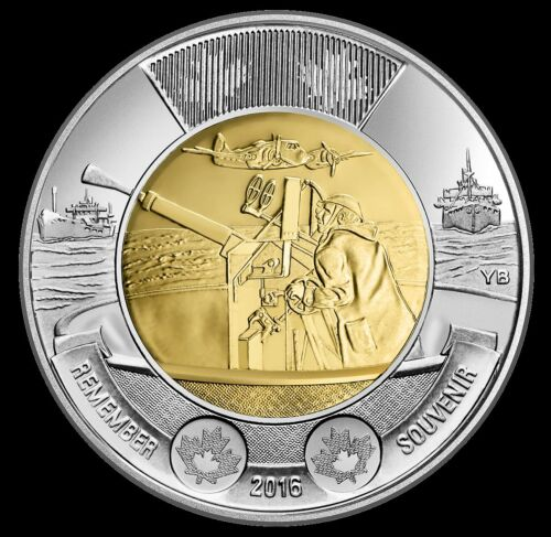 Battle of the Atlantic Toonie Coin Mint Sealed 2016 Canada Two Dollar No Tax