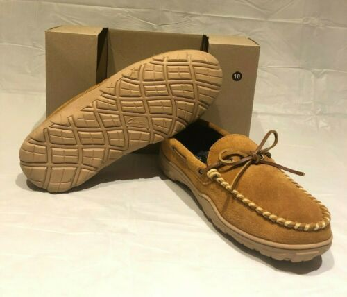 Details about  /Clarks Mens Suede Faux Fur Lined Slippers Cinnamon Brown Size 10M Indoor Outdoor