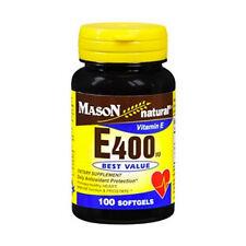 Mason Natural Vitamin E 400IU Supplement, 100ct 311845050519T431