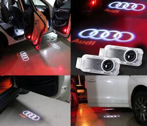2 led logo light shadow projector car door courtesy laser for audi a4 a6 a8 q7 ebay. Black Bedroom Furniture Sets. Home Design Ideas