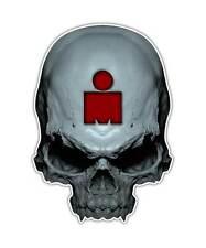 2 Ironman Skull Decal -Triathlon Sticker Athletic laptop ipad graphic