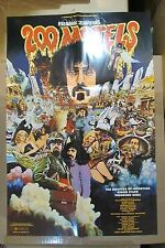 "FRANK ZAPPA ""200 Motels"" vintage original psychedelic movie poster TOP SHAPE!"