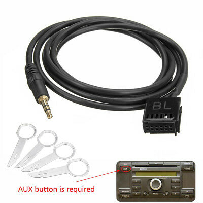 AUX IN Adapter Cable Lead For Ford Focus Fiesta Mondeo 6000CD iPod MP3 Keys