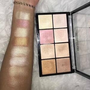 Makeup revolution highlighter palette swatches