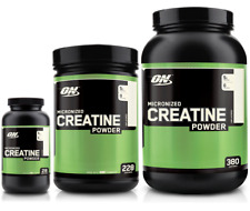 'Optimum Nutrition Micronized Creatine Powder 150/300/600/1200/2000g Unflavored' from the web at 'https://i.ebayimg.com/images/g/lLMAAOSwCJxaIK4F/s-l225.jpg'