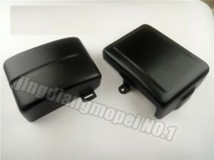 Neck Trim + Battery Covers for Harley Dyna Fat Street Bob Super Wide Glide 06-17