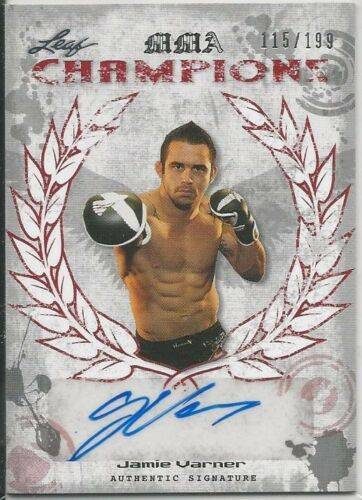 Jamie Varner 2010 Leaf MMA Champions Red Autographs Card # CHJV1 115//199