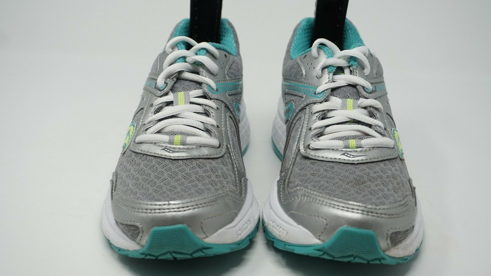 Saucony Womens S15333-1 Grey Teal Citron Running shoes Size 6.5M Free Shipping