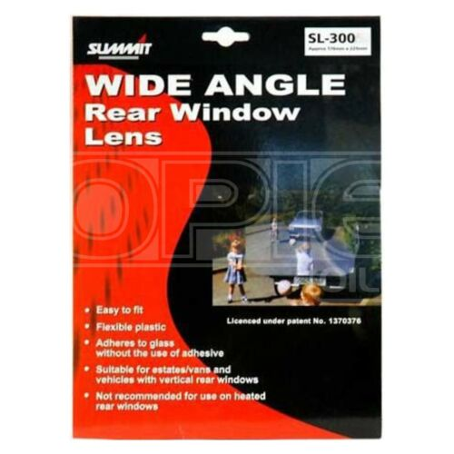 Wide Angle Rear Window Lens Car Van Small