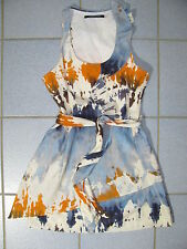 ANDREW MARC USA Abstract Print Seide/Baumwolle Kleid Dress Sommerkled 40 US-10