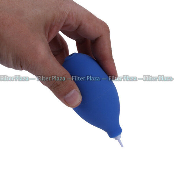 BLUE Rubber Air Blower Dust Cleaner for Camera Lens CMOS SENSER DSLR Canon Nikon