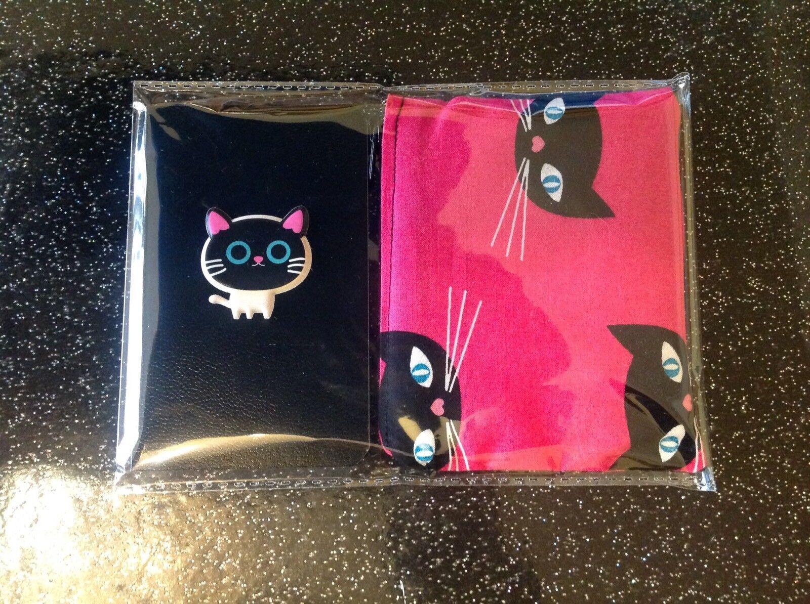 Retro 50's Atomic Rockabilly Kitty Kitsch Cat Purse + Notebook 2 Piece Gift Set