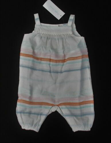 NWT Ralph Lauren Infant Striped Cotton Dobby Romper Sz 3m 6m 9m 12m 18m 24m NEW
