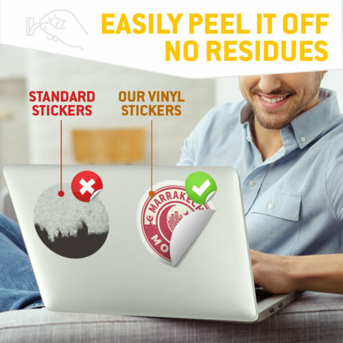 Morocco Marrakech Travel Cool Gift #7447 2 x Vinyl Stickers 10cm