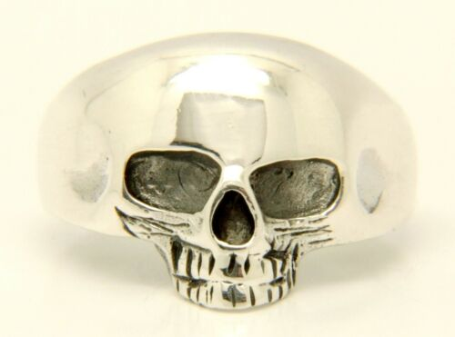 Solid  Sterling Silver Skull ring BRITISH HALLMARKED 925 STAMPED Various Sizes