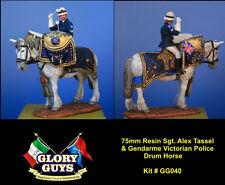 75mm Australian Police Drum Horse Gendarme & Sgt. Tassell Resin Kit   NEW!!