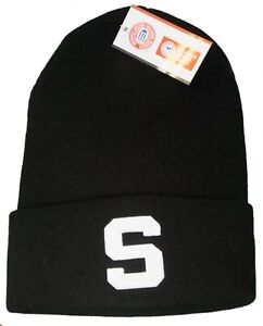 7664c1444cc Image is loading New-Michigan-State-University-Spartans-Embroidered-Beanie- Hat-