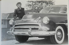 """12 By 18"""" Black & White Picture 1951 Chevrolet grill shot"""