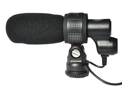 Q3 DV Microphone Stereo Condenser MIC for Canon Nikon Camera Camcorder DSLR Cam