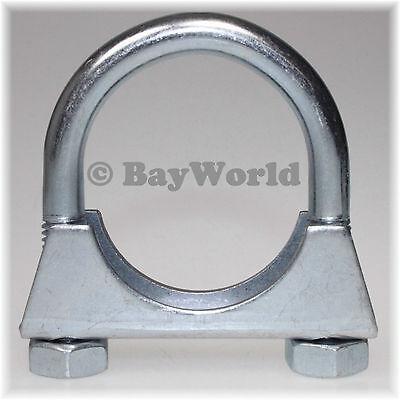 3 St Auspuffschelle Rohr-Bügel Schelle U-Bolt Clamp M8 x 70mm Flachbügelschelle