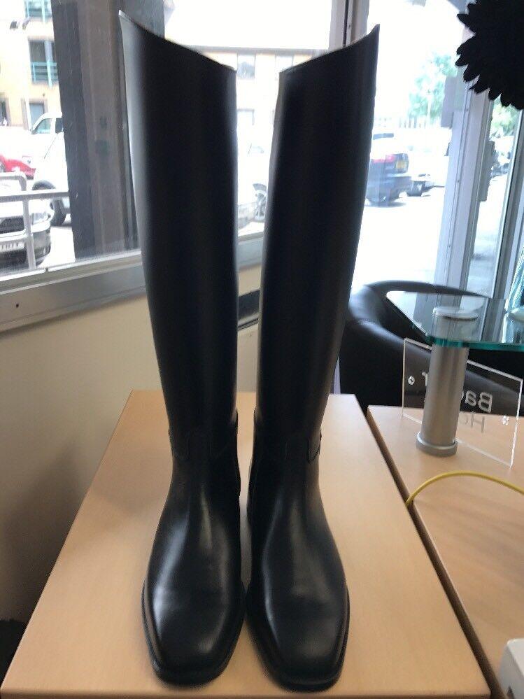 Regent Europa Leather Long Riding Boots  Size 7.5 Long Leg Narrow Calf Equestrian  happy shopping