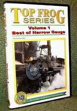 "cp012 TRAIN VIDEO DVD ""TOP FROG 1-BEST OF NARROW GAUGE"" RIO GRANDE"