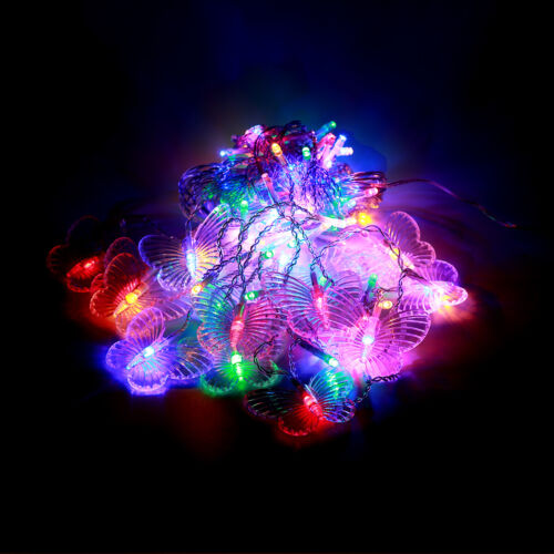 96 Butterfly LED String Curtain Lights Colorful Wedding Children Room Decor Lamp
