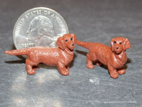 Dollhouse Miniature Dog Puppies Animals B24 1:24 1:12 5//8 in tall Dollys Gallery