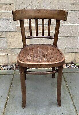 Vintage Retro Wooden Bentwood Thonet Chair Desk Chair Shabby Chic Ebay