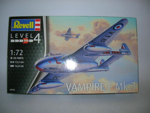 03934 F Mk 3  1:72 Bausatz Model Kit Art Revell de Haviland Vampire F Mk.3
