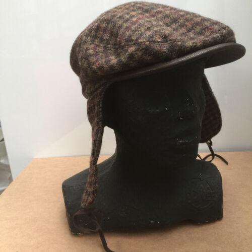 Stetson Tweed Cap Sherlock Holmes Edgewater Tweed /& Leather