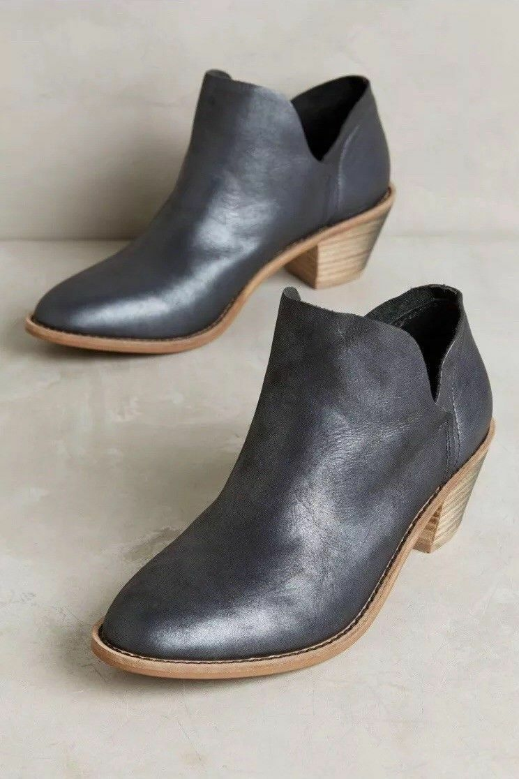 Anthropologie KELSI Tan DAGGER Kenmare Ankle Booties Silver Tan KELSI Stiefel 5.5 7 142905