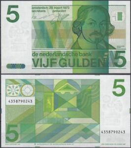Nederland-5-Gulden-1973-Vondel-UNC