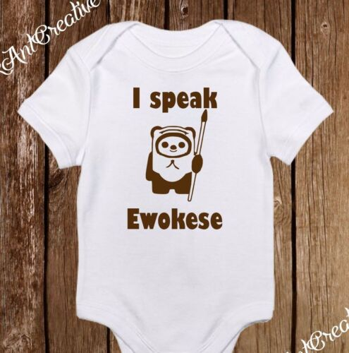 I Speak Ewokese Star Wars Ewok Funny Baby Clothes Baby Girl//Boy Unisex onesie
