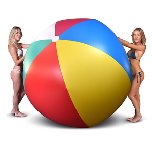 Image Is Loading Gofloats Giant Inflatable Large Beach Ball 6ft Diameter