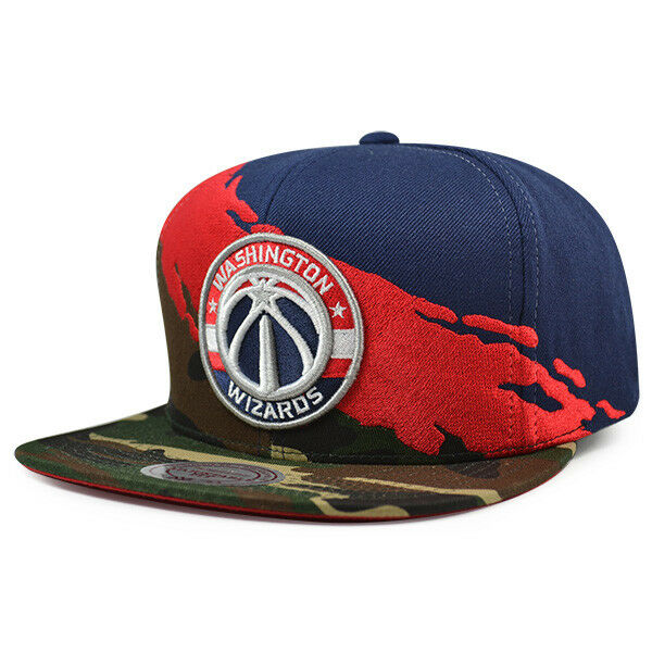 fd08feef587cd ... top quality washington wizards camo paintbrush snapback mitchell ness  nba hat ebay 2b1c3 12db1