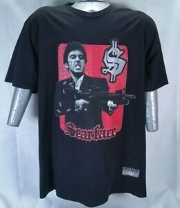 Tony Montana With M16 Scarface Clothing Company Xl Black Ebay