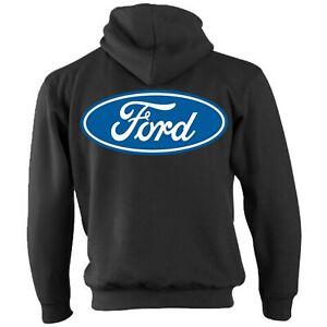 Licensed-Genuine-Ford-Zip-Hoody-Hoodie-Jacket-American-Classic-Retro-Blue-Logo