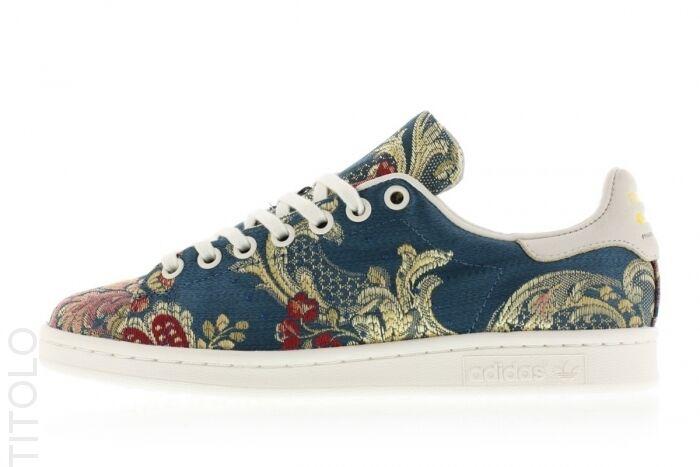 Pharrell williams broccato blu a fiori adidas x 5,5 6 6,5 8 11 dimensioni 6 5,5 8e0855