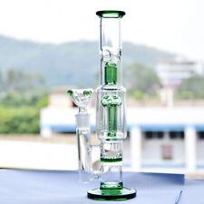 """10"""" Long Straight Glass Vase Bottle Hookah Shisha Smoking  Bongs Set"""