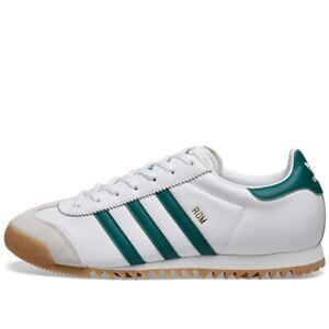 US10-5-adidas-Originals-Men-039-s-RETRO-City-Series-ROM-SNEAKERS-White-Green-LAST1