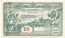 billet de necessité 20 francs BEZIERS NEUF/UNC  Format 17,5 x 10,4 cms