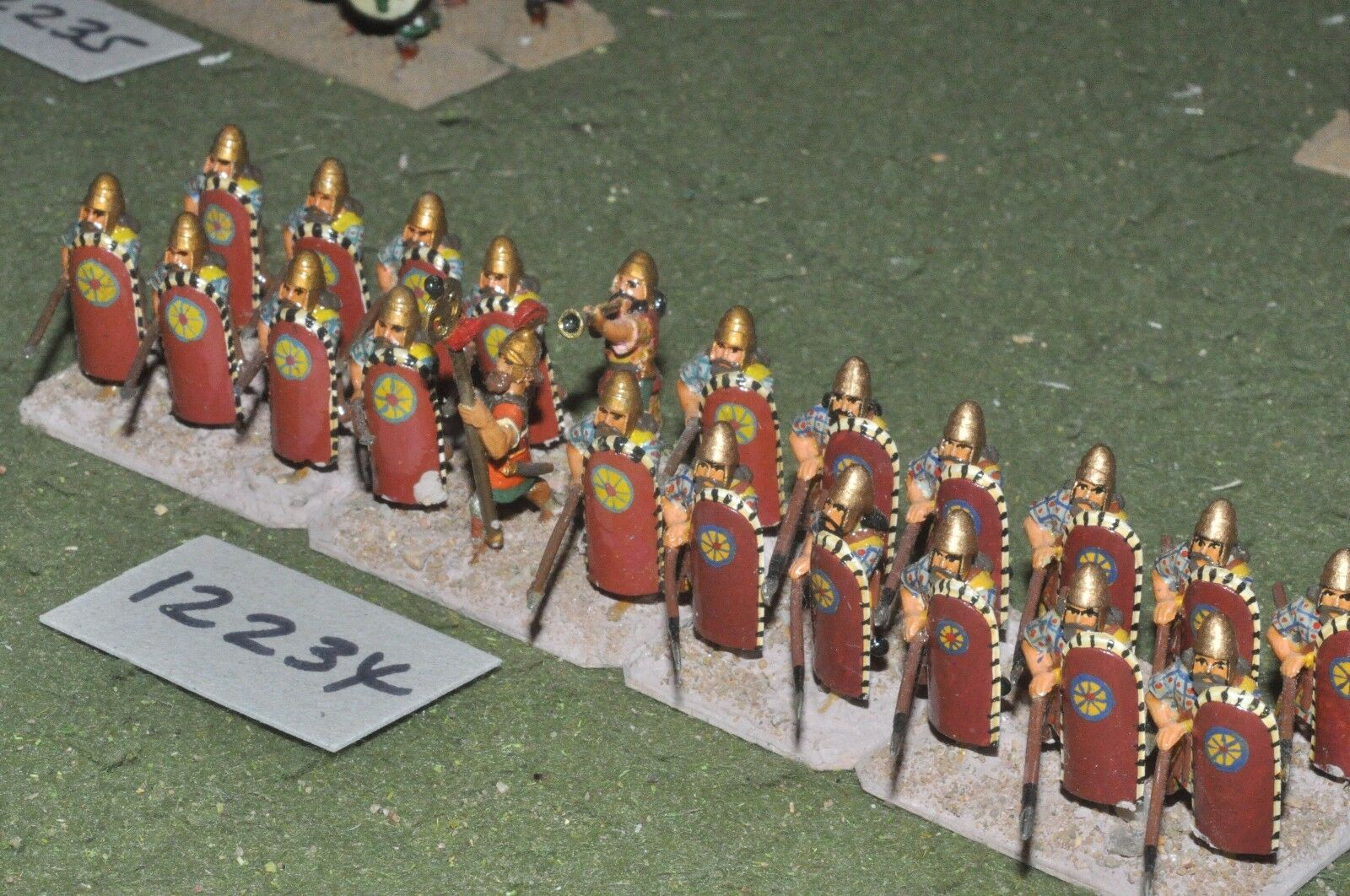 25mm biblical   assyrian - spearmen 22 figures - inf (12234)