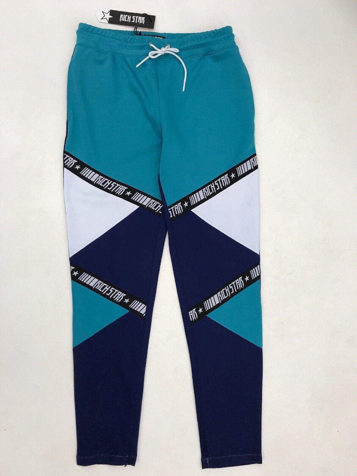 Rich Star Chevron Tape Pants Navy Mens Sample Large Nice New Rare 1 Of 1
