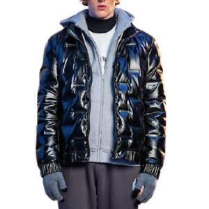 Men Stand Collar Warm Outwear Youth British Short 80% Duck Down Puffer Jackets L