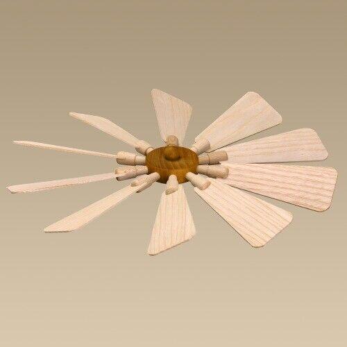 Ersatzteil Flügelrad Ø ca. 31 cm NEU Ersatz Teile Flügel Nabe Holzpyramide