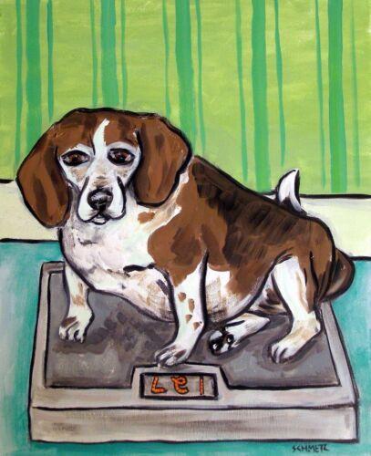 BEAGLE dog  art print 13x19 animals impressionism gift new artist dog
