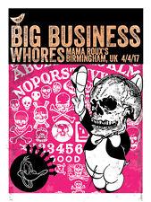 BIG BUSINESS Birmingham UK 2017 silkscreened poster by Francisco Ramirez